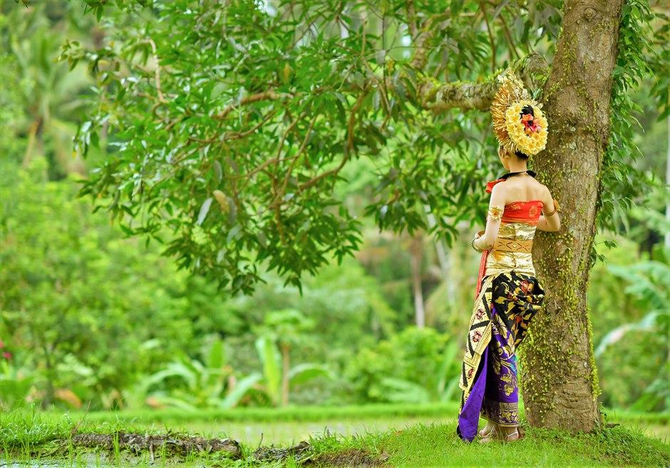 バリ伝統衣装・ウブド・フォトウェディング