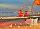 ベルモンド・ジンバラン・プリ・バリ ビーチ・サンセット・ロマンティックディナー 会場全景 バリニーズ装飾
