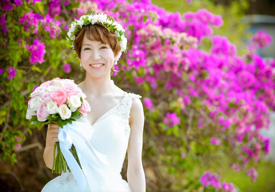 フォーシーズンズ・ジンバラン 花々が咲き乱れるガーデン 挙式前撮影