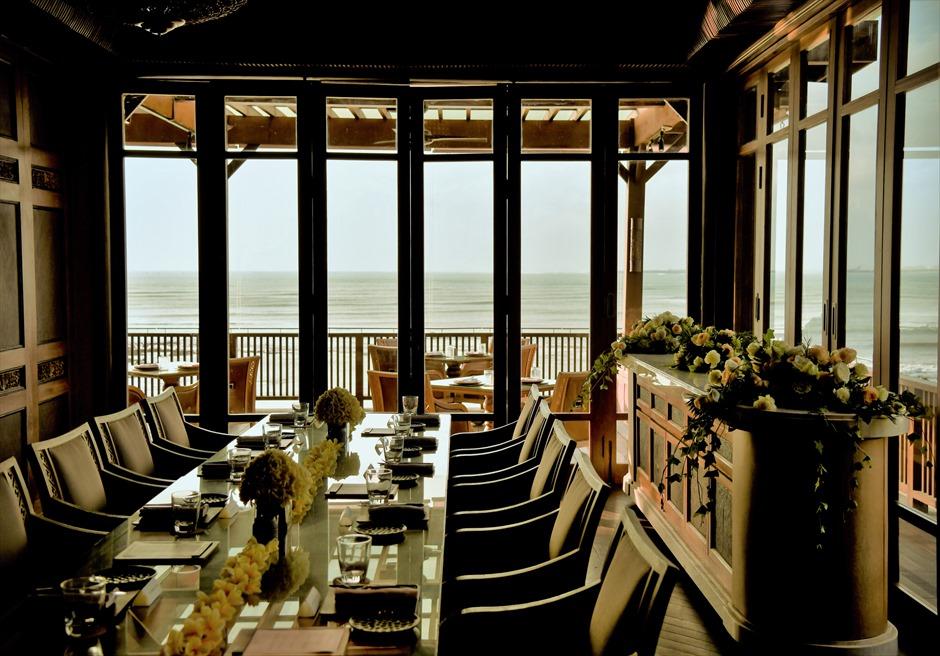 フォーシーズンズ・ジンバラン・バリ挙式 スンダラ・レストラン プライベートルーム