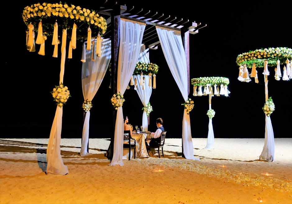 セント・レジス・バリ挙式 挙式後ロマンティック・ディナー