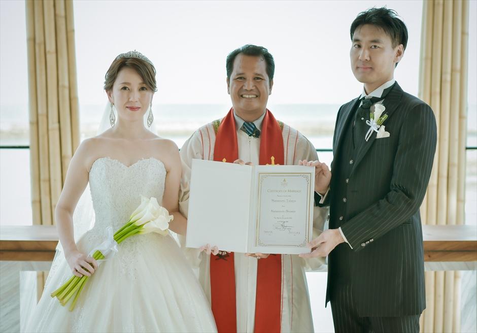 ジ・アプルヴァ・ケンピンスキ・バリ・ウェディング 基本挙式プラン 結婚証明書