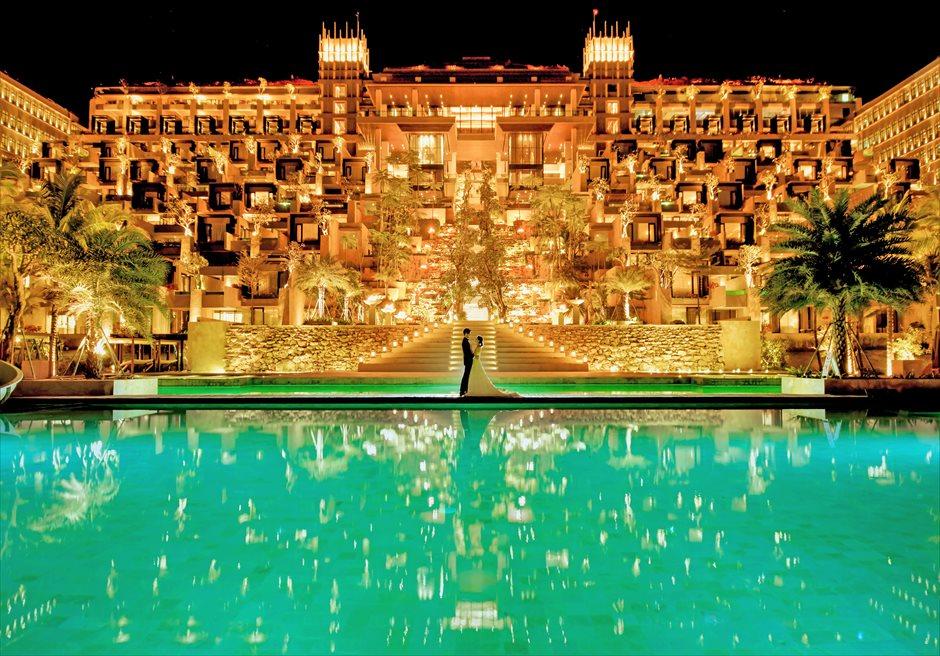 ジ・アプルヴァ・ケンピンスキ・バリ挙式 クリフスイート・ホテル棟ライトアップ撮影