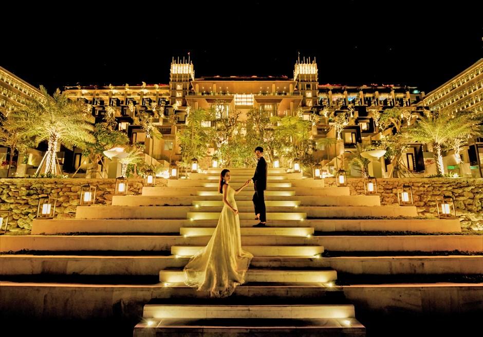 ジ・アプルヴァ・ケンピンスキ・バリ結婚式 クリフスイート・ホテル棟ロビーまでの回廊