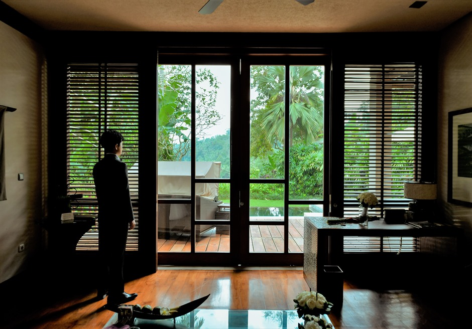 バリ島ウェディング・フォト【ウブド】/ フォーシーズンズ・リゾート・サヤン/ ヴィラ 高級感溢れる客室内