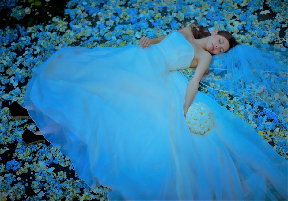 バリ島ウェディング・フォト・オプション/ 生花フラワーサークル 各色指定可/ ¥18,000