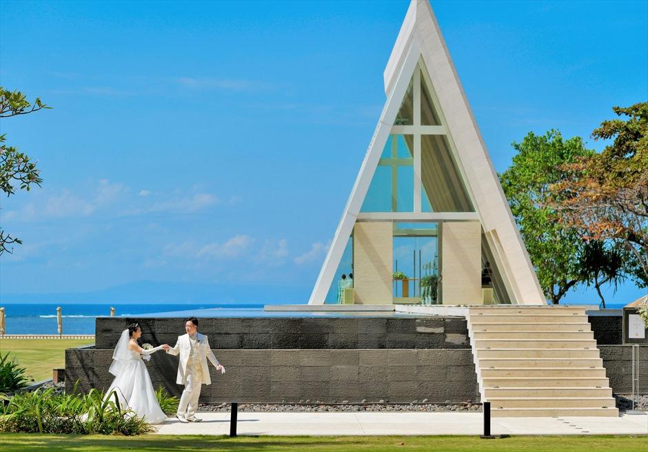 バリ島ウェディング・フォト/ コンラッド・バリ / インフィニティ・チャペル ガーデン