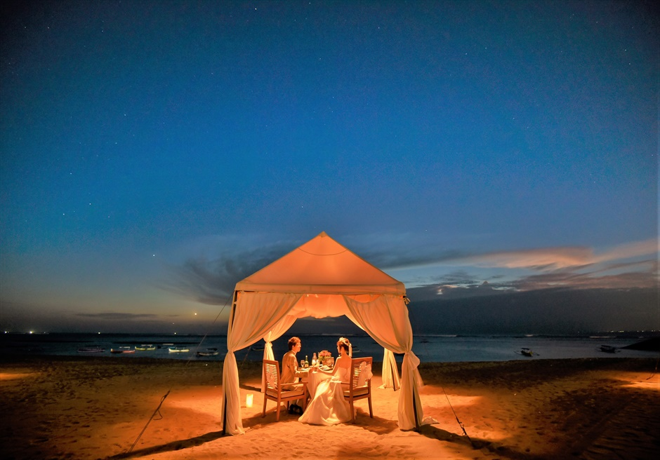 バリ島2人挙式・結婚式・ウェディング ロマンティックディナー