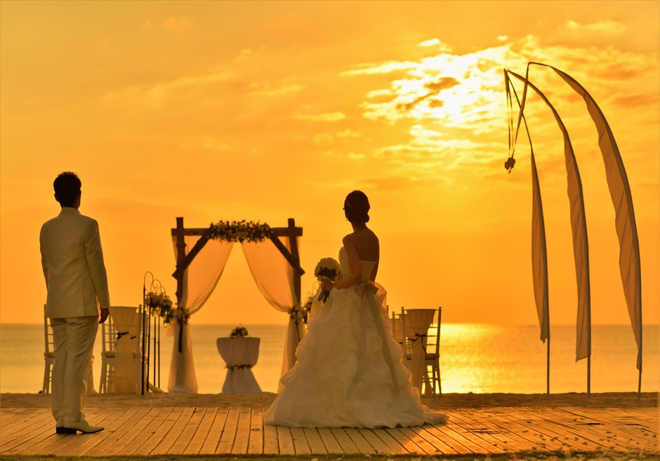 バリ島2人挙式・結婚式・ウェディング サンセット